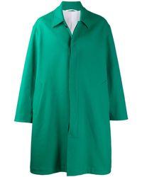 CALVIN KLEIN 205W39NYC Single Breasted Pea Coat - Green