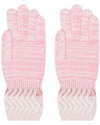 Missoni ジグザグ ニット手袋 - ピンク