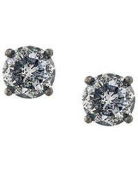 Bottega Veneta - Crystal Stud Earrings - Lyst