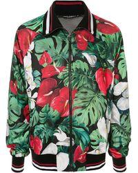 Dolce & Gabbana - トロピカル ボンバージャケット - Lyst