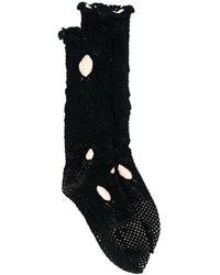 Yohji Yamamoto ホール靴下 - ブラック