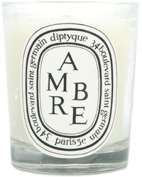 Diptyque 'Ambre 190' Kerze - Weiß