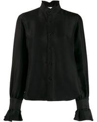 Comme des Garçons ラッフル ハイネックシャツ - ブラック