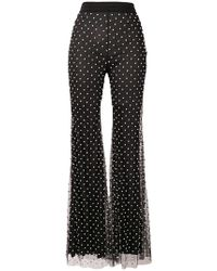 Amen - Crystal Embellished Flared Trousers - Lyst