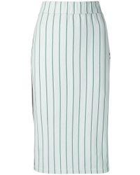 adidas - Striped Midi Skirt - Lyst