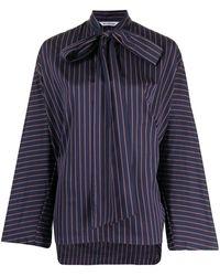 Balenciaga Полосатая Блузка С Бантом - Пурпурный