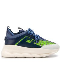 Versace Chain Reaction Sneakers - Blauw