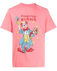 Martine Rose Clown Graphic Print T-shirt - Pink