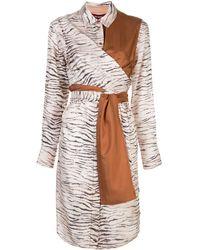 Sies Marjan Платье-рубашка С Зебровым Принтом - Многоцветный