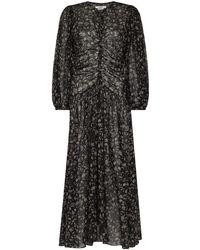 Étoile Isabel Marant Mariana フローラル ドレス - ブラック