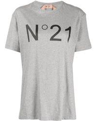 N°21 Logo Print T-shirt - Grey