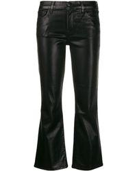 J Brand Metallic Bell-bottom Pants - Black