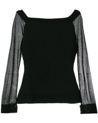 Roland Mouret - Sheer Sleeves Jumper - Lyst