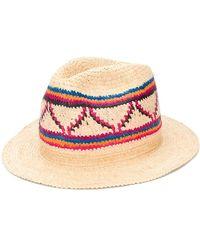 SuperDuper Hats Fédora à design tressé - Multicolore