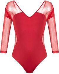 Brigitte Bardot - Sheer Panels Body - Lyst