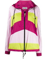 MSGM - Colour-block Zipped Jacket - Lyst