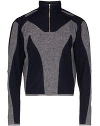 GmbH Atris Panelled Half-zip Sweatshirt - Blue
