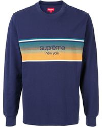Supreme Shadow Stripe Top - Blue
