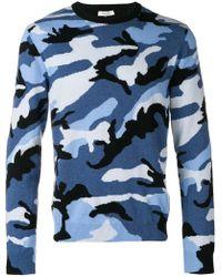 Valentino - Kaschmirpullover mit Camouflage-Muster - Lyst