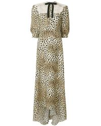 Cristina Savulescu - Long Animal Print Dress - Lyst
