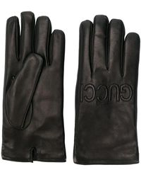 Gucci - Logo Embossed Gloves - Lyst