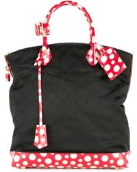 Louis Vuitton Pre-owned Dots Lockit Vertical Mm Kusama Yayoi Hand Tote Bag - Black