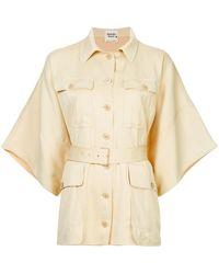 Hermès Рубашка С Короткими Рукавами В Стиле Оверсайз Pre-owned - Естественный