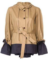 Palmer//Harding - Belted Contrast Jacket - Lyst
