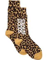 Stadium Goods Leopard-pattern Socks - Yellow