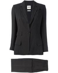 Hermès Pre-owned Pinstriped Suit - Brown