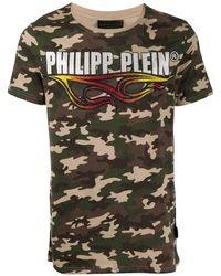 Philipp Plein T-shirt con stampa camouflage - Verde