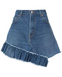 Icons Reconstructed Levi's 501 Skirt - Blue