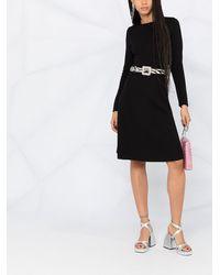 P.A.R.O.S.H. Трикотажное Платье С Длинными Рукавами - Черный