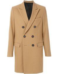 AMI Двубортное Пальто - Естественный
