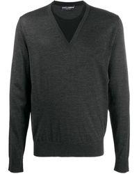 Dolce & Gabbana Vネック セーター - グレー