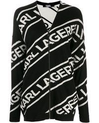 Karl Lagerfeld Кардиган На Молнии С Логотипом - Черный