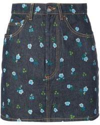 Marc Jacobs デニムミニスカート - ブルー