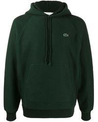 Lacoste Худи С Вышитым Логотипом - Зеленый