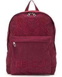 KENZO Рюкзак С Вышивкой Tiger - Красный