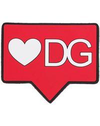 Dolce & Gabbana Patch Met Logo - Rood