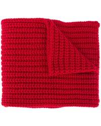DSquared² Вязаный Шарф С Логотипом - Красный