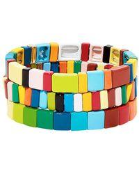 Roxanne Assoulin Rainbow Brite Set Of Three Bracelets - Blue