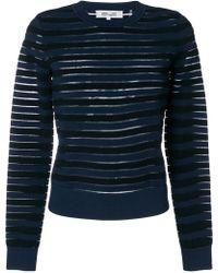 Diane von Furstenberg - Sheer Striped Jumper - Lyst