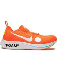 NIKE X OFF-WHITE Off-white X Nike Zoom Fly Mercurial Fk スニーカー - オレンジ