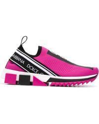 Dolce & Gabbana Слипоны Sorrento - Розовый