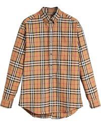 Burberry - Camisa con botones - Lyst