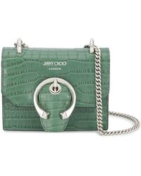 Jimmy Choo Мини-сумка Через Плечо Paris - Зеленый