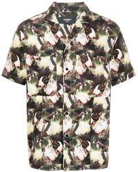 Represent Рубашка Со Сплошным Принтом - Зеленый