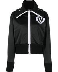 Versace Куртка С Логотипом И Широким Воротником - Черный
