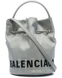 Balenciaga Сумка-ведро Wheel С Логотипом - Серый